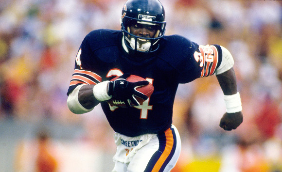 Walter Payton - Biography and FactsWalter Payton Jumping Touchdown